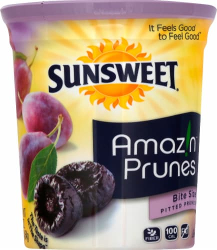 Sunsweet Bite Size Pitted Prunes Canister Perspective: front
