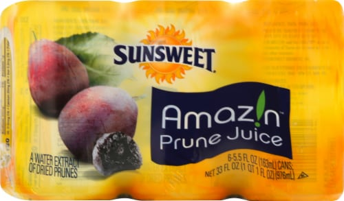 Sunsweet Amazin Prune Juice 6 Count Perspective: front