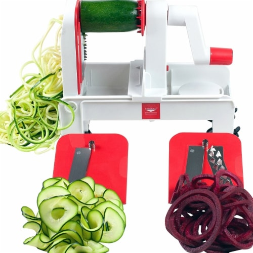 Paderno World Cuisine A4982802 Folding Tri-Blade Spiralizer Perspective: front