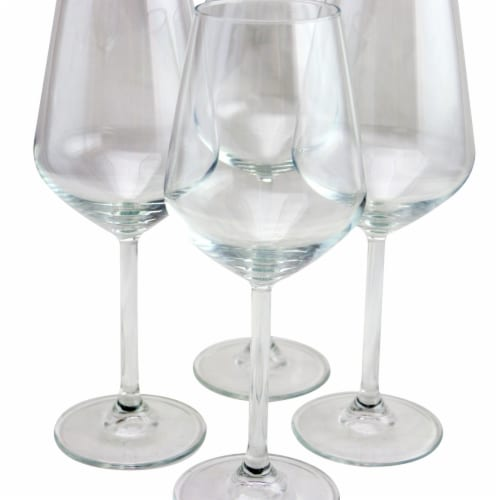 Pasabahce 440080-1046744 Allegra 11.75 oz Wine Glass Set - White - 4 Piece Perspective: front