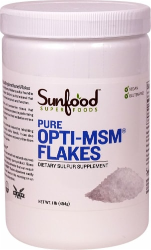 Sunfood Pure Opti-MSM Flakes Perspective: front
