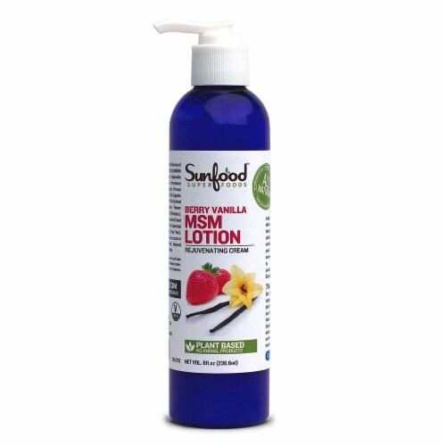 Sunfood Organic Berry Vanilla MSM Lotion Perspective: front