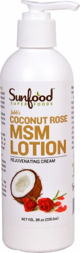 Sunfood Coconut Rose MSM Lotion Perspective: front