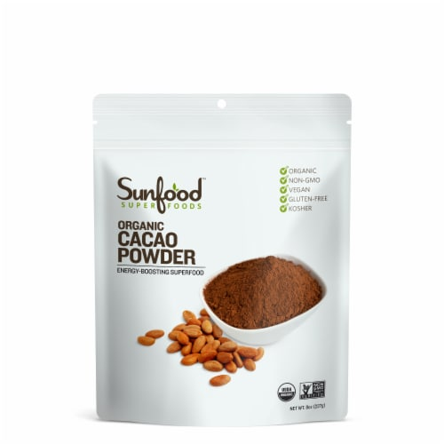 Sunfood Organic Cacao Powder Perspective: front