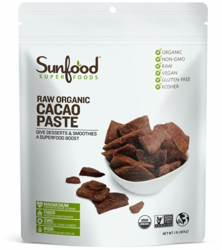 Sunfood Organic Cacao Paste Perspective: front