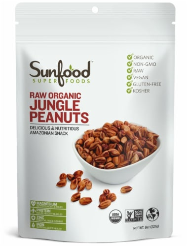 Sunfood Raw Organic Jungle Peanuts Perspective: front