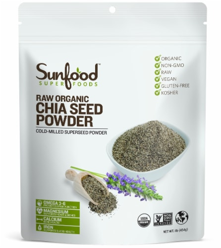 SunFood Organic Chia Seed Powder Perspective: front