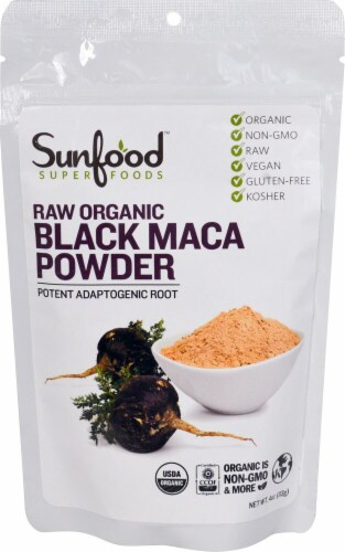 Sunfood Black Maca Powder Perspective: front