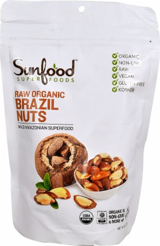 Sunfood Raw Organic Brazil Nuts Perspective: front