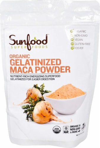 SunFood Gelatinized Maca Powder Perspective: front