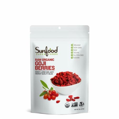 Sunfood Raw Organic Gluten Free Goji Berries Perspective: front