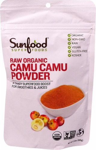 Sunfood Raw Organic Camu Camu Powder Perspective: front