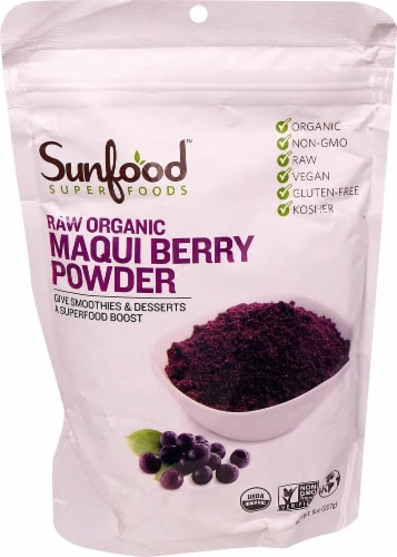 Sunfood Raw Organic Maqui Berry Powder Perspective: front