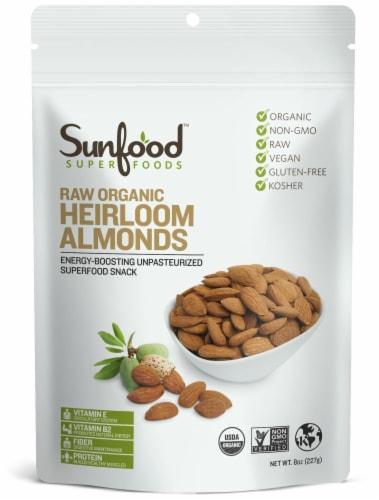 Sunfood Raw Organic Heirloom Almonds Perspective: front