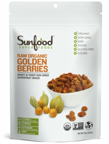 Sunfood Raw Organic Golden Berries Perspective: front