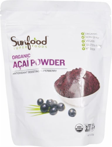 Sunfood Organic Acai Powder Perspective: front