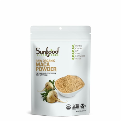 Sunfood Superfoods Raw Organic Maca Powder Perspective: front