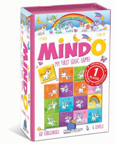 Blue Orange Unicorn Mindo Multilevel Puzzle Game Perspective: front