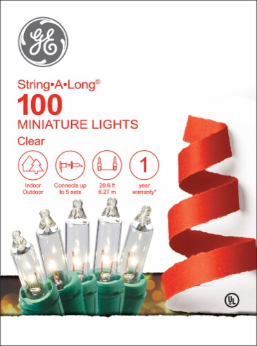 GE String-A-Long 100 Miniature String Lights - Clear Perspective: front