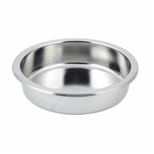 Bon Chef 12021 10.75 in. dia Stainless Steel Round Food Pan for Petite Chafers Perspective: front