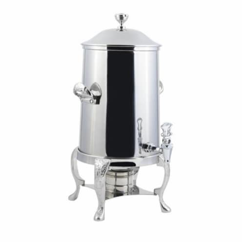 Bon Chef 47101C 2 gal Renaissance Non Insulated Coffee Urn with Chrome Trim Perspective: front