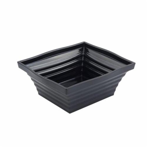 Bon Chef 53102BLACK 10.25 x 9 x 4 in. Americana Square 4 quart Bowl, Black - 16 oz Perspective: front