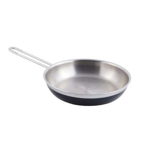 Bon Chef 60308BLACK 11 x 2.12 in.Classic Country French Collection Saute 2 quart Pan & Skille Perspective: front