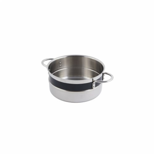 Bon Chef 62300NCBLACK 7.75 x 3.5 in. Classic Country 0.5 Color Singlewall 2.3 quart Pot No Co Perspective: front