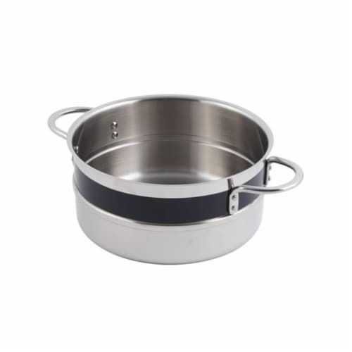 Bon Chef 62301NCBLACK 8.62 x 3.87 in. Classic Country 0.5 Color Singlewall 3.3 quart Pot No C Perspective: front