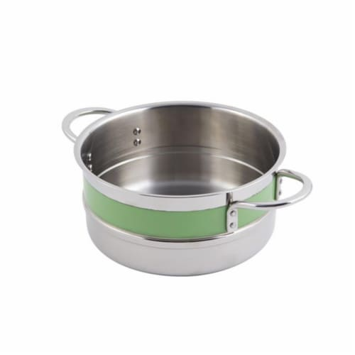Bon Chef 62302NCLIME 9.37 x 4.37 in. Classic Country 0.5 Color Singlewall 4.3 quart Pot No Co Perspective: front