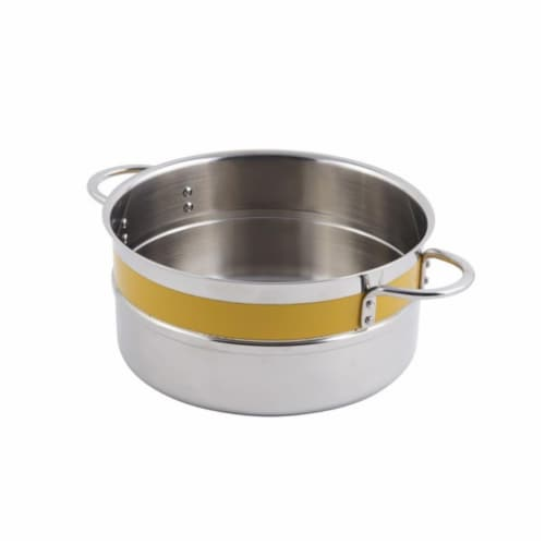 Bon Chef 62302NCYELLOW 9.37 x 4.37 in. Classic Country 0.5 Color Singlewall 4.3 quart Pot No Perspective: front