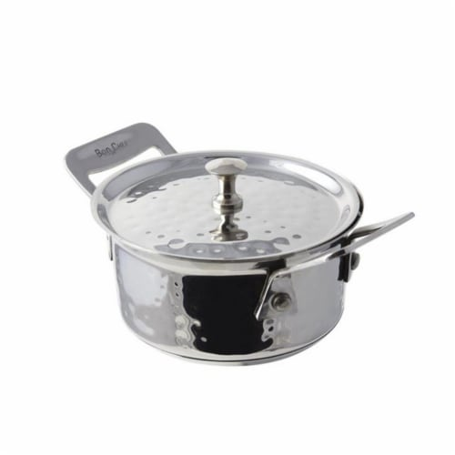 Bon Chef 60021HF 4.87 in. dia. Cucina Round Side Dish Hammer with Lid Perspective: front