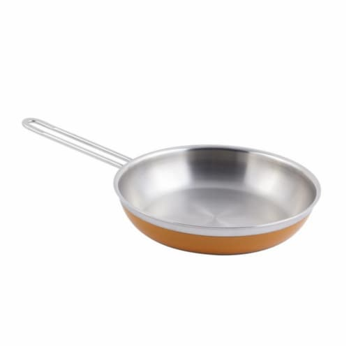 Bon Chef 60308ORANGE 11 x 2.12 in.Classic Country French Collection Saute 2 quart Pan & Skill Perspective: front