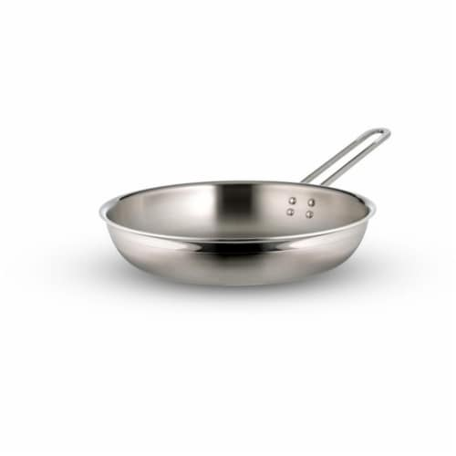Bon Chef 60309-2ToneSS 11.75 x 2.37 x 7.5 Country French Two Tone Stainless Steel Saute 3 qua Perspective: front