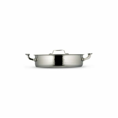Bon Chef 60030HF 12.37 in. dia. Cucina 6 quart Pot with Cover Hammer Induction Bottom Perspective: front