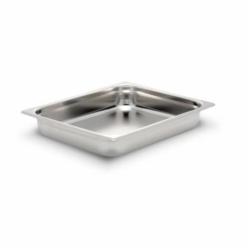 Bon Chef 12028 13.87 x 12.75 x 2.25 in. Stainless Steel 0.75 Size Rectangular Food Pan, 1.50 Perspective: front