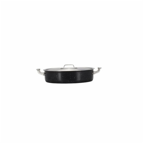Bon Chef 60030GALAXY 6 qt Hotstone Galaxy Cucina Pot with Cover - Induction Bottom Perspective: front