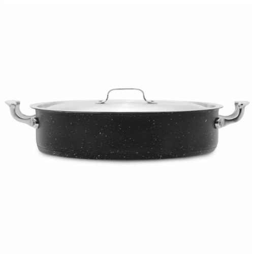 Bon Chef 60032GALAXY 9 qt Hotstone Galaxy Cucina Pot with Cover - Induction Bottom Perspective: front
