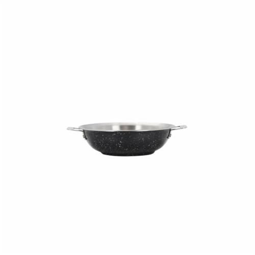 Bon Chef 60006GALAXY 13 in. Hotstone Galaxy Cucina Braiser Pan with Lid - Induction Bottom Perspective: front