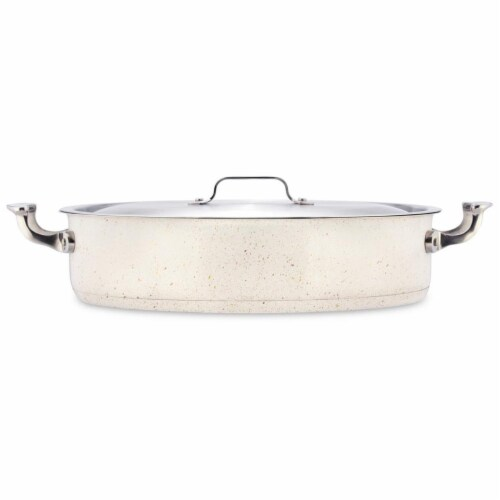 Bon Chef 60032DESERT 9 qt Hotstone Desert Cucina Pot with Cover - Induction Bottom Perspective: front