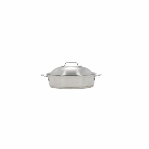 Bon Chef 60001DESERT 4 qt Hotstone Desert Cucina Saut Use with Lid - Induction Bottom Perspective: front