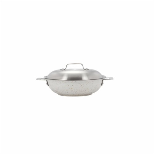 Bon Chef 60006DESERT 13 in. Hotstone Desert Cucina Braiser Pan with Lid - Induction Bottom Perspective: front