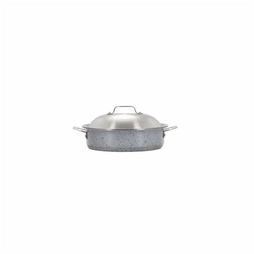 Bon Chef 60001STARLIGHT 4 qt Hotstone Starlight Cucina Saut Use with Lid - Induction Bottom Perspective: front