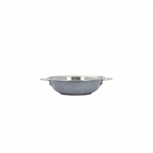 Bon Chef 60006STARLIGHT 13 in. Hotstone Starlight Cucina Braiser Pan with Lid - Induction Bot Perspective: front