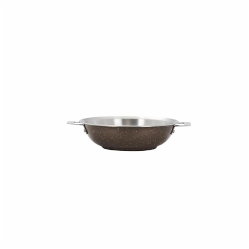 Bon Chef 60006COFFEE 13 in. Hotstone Coffee Cucina Braiser Pan with Lid - Induction Bottom Perspective: front