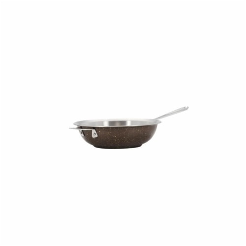 Bon Chef 60008COFFEE 12 in. Hotstone Coffee Cucina Chefs Pan with Lid - Induction Bottom Perspective: front