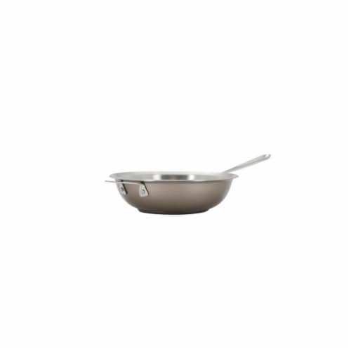 Bon Chef 60008TAUPE 12 in. Hotstone Taupe Cucina Chefs Pan with Lid - Induction Bottom Perspective: front