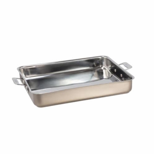 Bon Chef 60012CLDTAUPE 5 qt Hotstone Taupe Cucina Large Square Pan - Induction Bottom Perspective: front