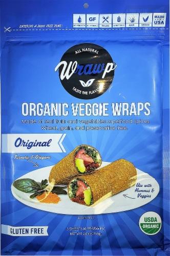 WrawP  Organic Veggie Wraps Gluten-Free Paleo   Original Perspective: front