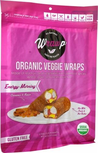 WrawP  Organic Veggie Wraps Gluten-Free Paleo   Energizing Morning Perspective: front
